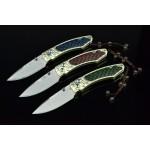 3381 damascus steel pocket knife-ZH160