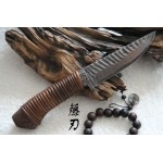 3488 damascus collectible hunting knife
