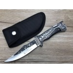 stainless steel and black sandalwood folding knife 5741