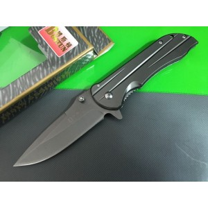Bosdiun Drop Point Stainless Steel Titanium Folding Knife 5741