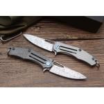 VG10 Damascus Blade Titanium Handle Damascus Finish Folding Blade Knife Pocket Knife5925