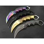 3Cr13MoV Steel Blade Metal Handle Claw Knife Karambit Knife5909