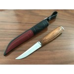 8Cr13MoV Steel Blade Wood Handle Satin Finish Fixed Blade Hunting Knife5893