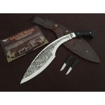 High Carbon Steel Blade Ebony Handle Mirror Finish Kukri Knife Machete5317