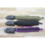 Stainless Steel Blade Rope Binding Handle Stonewash Finish Multi-functional Knife Wristband Knife5951