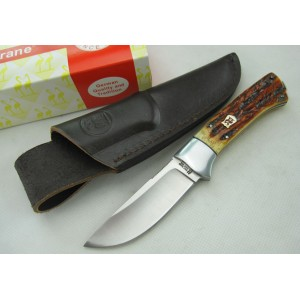 440C Stainless Steel Blade Bone Handle Satin Finish Fixed Blade Knife Hunting Knife2429