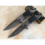 5Cr15MOV Steel Blade Metal Bolster G10 Handle Titanium Finish Liner Lock Pocket Knife Folding Blade Knife5992