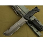 5Cr13MoV Steel Blade ABS Handle Fixed Blade Knife with Plastic Sheath2338