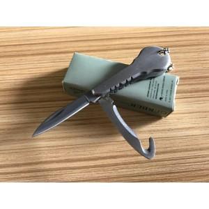 440 Stainless Steel Blade Aluminum Handle Satin Finish Multi-fuctional Folding Blade Knife6011