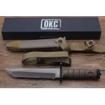 1095 High Carbon Steel Blade Plastic Handlel Fixed Blade Knife Military Knife6022